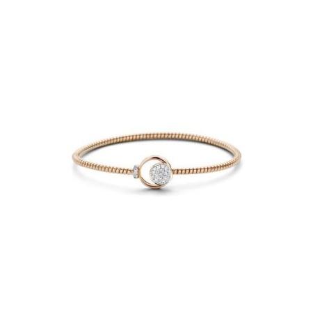 Tirisi Jewelry 18 krt roségouden slavenarmband met 0.21 crt diamant RG