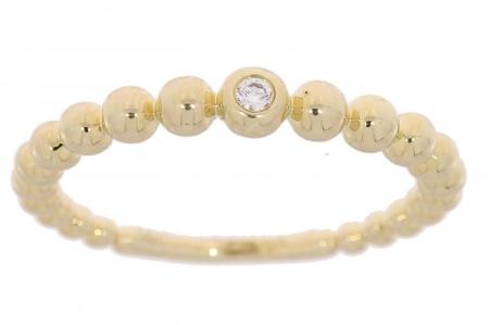 Verlinden Diamond CollectionS Geelgouden aanschuifring met 0.02 crt diamant Sale sieraden licht beschadigd