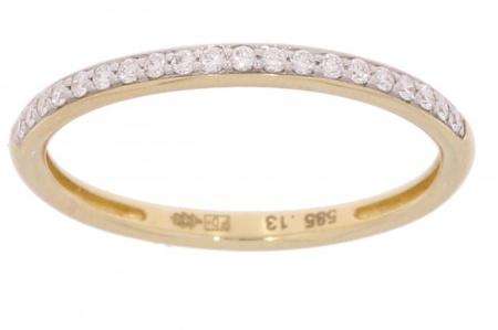Verlinden Diamond CollectionS 14 karaat geelgouden aanschuifring met 0.14 crt diamant maat 17.5