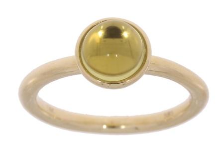 Verlinden Gold Collection Geelgouden damesring met Lima kwarts mt. 17/lima kwarts