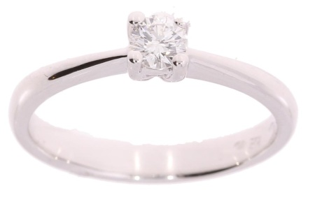 Verlinden Diamond Collections Witgouden R&C groeidiamant ring met 0.22crt diamant. maat 54*