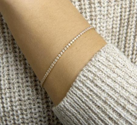 Verlinden Gold Collection Geelgouden tennisarmband met zirkonia stenen. 40.22875