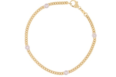 Verlinden Diamond Collections Bicolor gouden gourmet armband 41 5210 031
